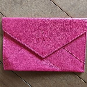 Milly pink leather envelope